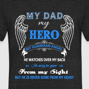 Guardian Angel Dad T Shirt - Unisex Tri-Blend T-Shirt by American Apparel