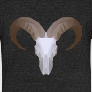 Low Poly Aoudad Skull - Unisex Tri-Blend T-Shirt by American Apparel