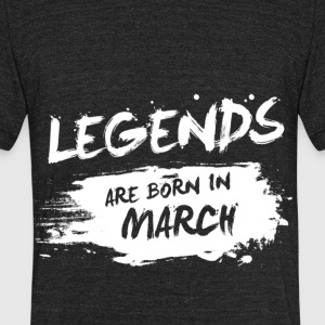 Legends are born in March - Unisex Tri-Blend T-Shirt by American Apparel