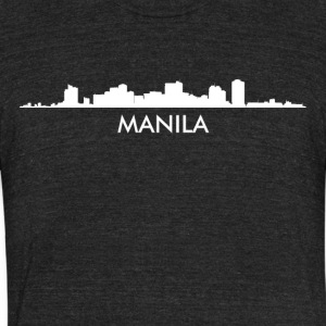 Manila Philippines Skyline - Unisex Tri-Blend T-Shirt by American Apparel