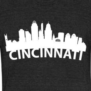 Arc Skyline Of Cincinnati OH - Unisex Tri-Blend T-Shirt by American Apparel