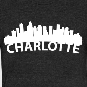 Arc Skyline Of Charlotte NC - Unisex Tri-Blend T-Shirt by American Apparel