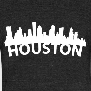 Arc Skyline Of Houston TX - Unisex Tri-Blend T-Shirt by American Apparel