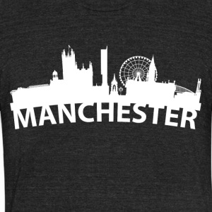 Arc Skyline Of Manchester England - Unisex Tri-Blend T-Shirt by American Apparel