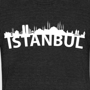 Arc Skyline Of Istanbul Turkey - Unisex Tri-Blend T-Shirt by American Apparel