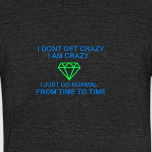 crazy - Unisex Tri-Blend T-Shirt by American Apparel