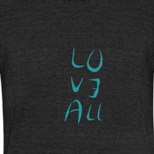 Love All - Unisex Tri-Blend T-Shirt by American Apparel