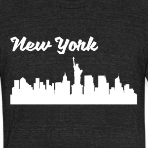 New York NY Skyline - Unisex Tri-Blend T-Shirt by American Apparel