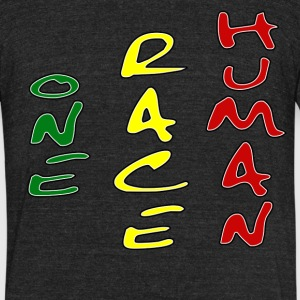 ONe Race Human - Unisex Tri-Blend T-Shirt by American Apparel