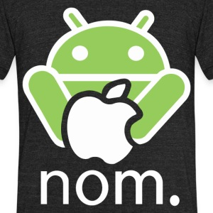Andy Nomming on an Apple - Unisex Tri-Blend T-Shirt by American Apparel