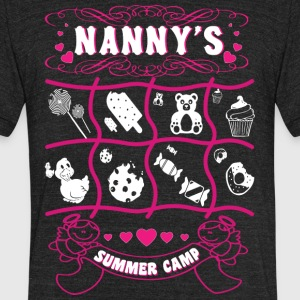 Nanny's Summer Camp T Shirt - Unisex Tri-Blend T-Shirt by American Apparel