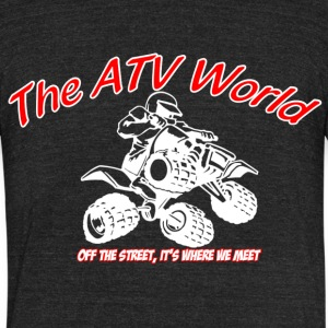 The ATV World - Unisex Tri-Blend T-Shirt by American Apparel