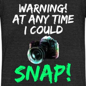 Cute and Cool Photography Clothing - I Could Snap - Unisex Tri-Blend T-Shirt by American Apparel