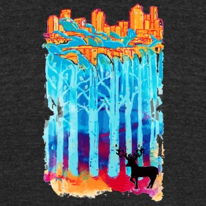 Waterfall City - Unisex Tri-Blend T-Shirt by American Apparel