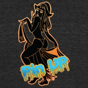 hot_sexy_maid_girl_black - Unisex Tri-Blend T-Shirt by American Apparel