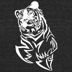 dreaming_tiger_black_white - Unisex Tri-Blend T-Shirt by American Apparel