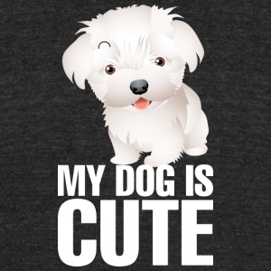 My_dog_is_cute_9_white - Unisex Tri-Blend T-Shirt by American Apparel