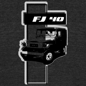FJ 40 ABSTRACT - Unisex Tri-Blend T-Shirt by American Apparel