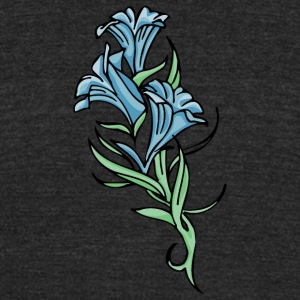flowers - Unisex Tri-Blend T-Shirt by American Apparel