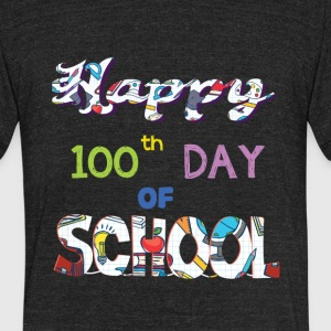 Happy 100th Day Of School Gifts T Shirt - Unisex Tri-Blend T-Shirt by American Apparel