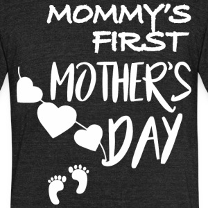 Mommys First Mothers Day - Unisex Tri-Blend T-Shirt by American Apparel