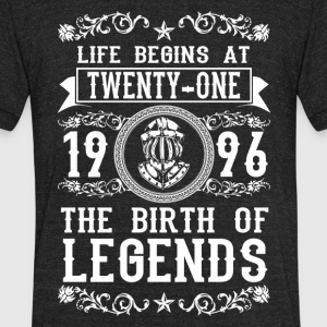1996 - 21 years - Legends - 2017 - Unisex Tri-Blend T-Shirt by American Apparel