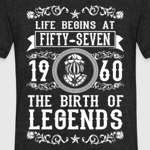 1960 - 57 years - Legends - 2017 - Unisex Tri-Blend T-Shirt by American Apparel