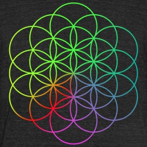 Coldplay Flower of Life - Unisex Tri-Blend T-Shirt by American Apparel