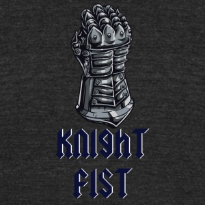 ARMOR KNIGHT FIST - Unisex Tri-Blend T-Shirt by American Apparel