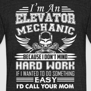 Elevator Mechanic Shirt - Unisex Tri-Blend T-Shirt by American Apparel
