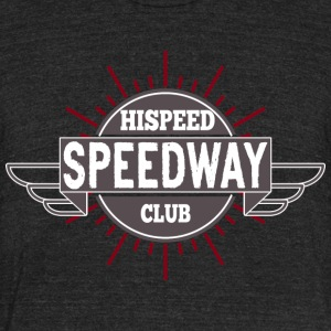 Speedway Hispeed Club - Unisex Tri-Blend T-Shirt by American Apparel