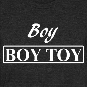 Boy BOY TOY gay men from Bent Sentiments - Unisex Tri-Blend T-Shirt by American Apparel