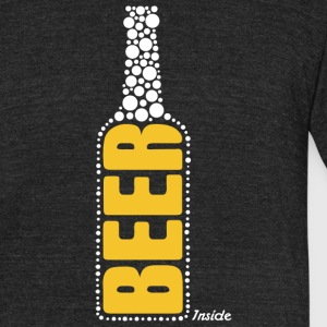 Beer inside - Unisex Tri-Blend T-Shirt by American Apparel