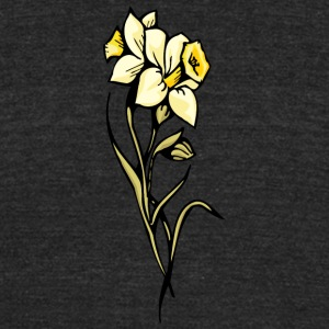 double_yellow_flowers - Unisex Tri-Blend T-Shirt by American Apparel