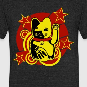 Lucky Cat - Unisex Tri-Blend T-Shirt by American Apparel