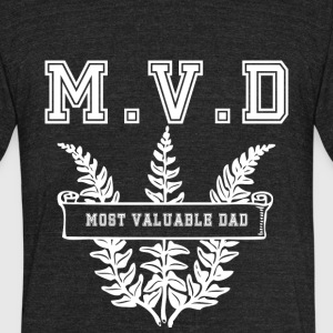 Most valuable Dad MVD - Unisex Tri-Blend T-Shirt by American Apparel