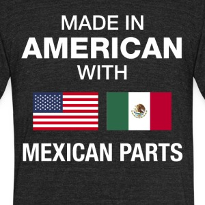 Made in American with Mexican parts - Unisex Tri-Blend T-Shirt by American Apparel