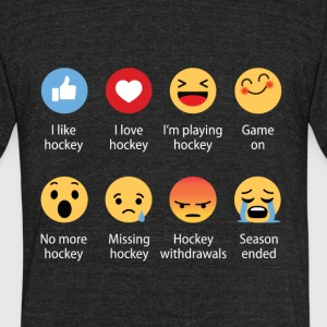 Hockey Emojication Funny - Unisex Tri-Blend T-Shirt by American Apparel