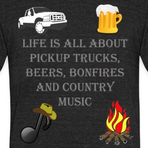Life is all about Country Music 1 - Unisex Tri-Blend T-Shirt by American Apparel