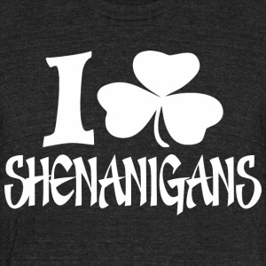 I Clover Shenanigans St Patrick Day - Unisex Tri-Blend T-Shirt by American Apparel