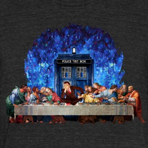 Time traveller lost in the last supper - Unisex Tri-Blend T-Shirt by American Apparel
