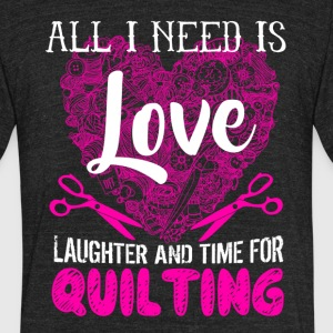 Love Quilting Shirt - Unisex Tri-Blend T-Shirt by American Apparel