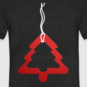 Red Christmas tree - Unisex Tri-Blend T-Shirt by American Apparel