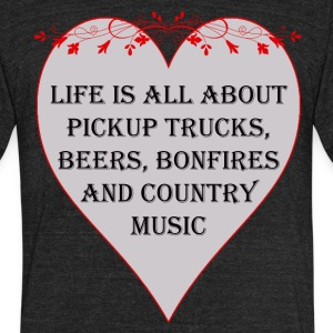 Life is all about Country Music - Unisex Tri-Blend T-Shirt by American Apparel