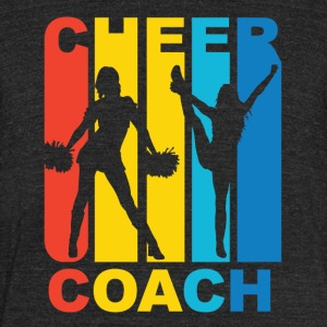Vintage Cheer Coach Cheerleading Graphic - Unisex Tri-Blend T-Shirt by American Apparel
