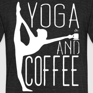 Yoga And Coffee T Shirt - Unisex Tri-Blend T-Shirt by American Apparel