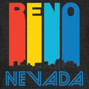 Retro Reno Nevada Skyline - Unisex Tri-Blend T-Shirt by American Apparel