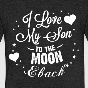 I love my son to the moon back - Unisex Tri-Blend T-Shirt by American Apparel