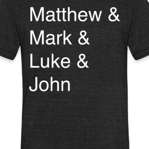 The Gospels - Unisex Tri-Blend T-Shirt by American Apparel