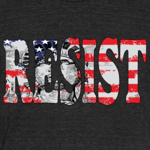 keep resist - Unisex Tri-Blend T-Shirt by American Apparel